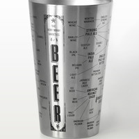 The Very Many Varieties of Beer Double-Wall Vacuum Insulated Stainless Steel Tumbler