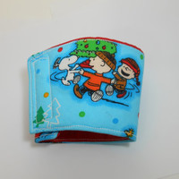 Peanuts, Charlie Brown and Snoopy Christmas Cozy for your Coffee or Tea, Reusable and saves on waste and trees