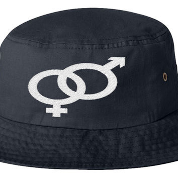 man and woman bucket hat