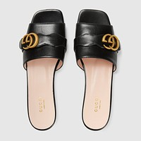 GUCCI Women's sequin slide sandal