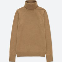WOMEN EXTRA FINE MERINO TURTLENECK SWEATER