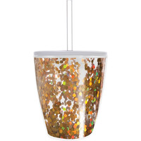 Slant Collections- 10 Oz. Double Wall DOF - Gold Confetti