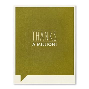 Thank You Greeting Card - Thanks a Million!