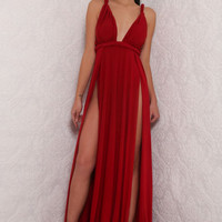 Aphrodite Gown Deep Red