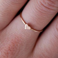 Catbird :: Heart Ring, Rose Gold