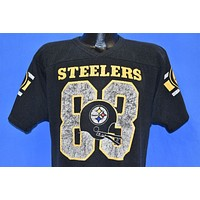 80s Pittsburgh Steelers #83 Theo Bell Black Jersey Large