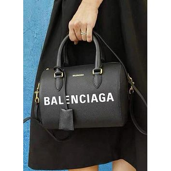 Balenciaga New fashion letter print pillow shape shoulder bag women handbag crossbody bag Black