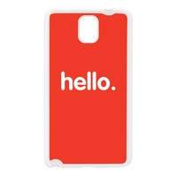 Hello White Silicon Rubber Case for Galaxy Note 3 by textGuy