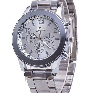 Geneva Runway Band Quartz Wrist Watch