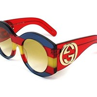 Sunglasses Gucci GG 0177 S- 002 MULTICOLOR / YELLOW RED