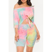 You Got Me Twisted Tie Dye Two Piece Set Pastel