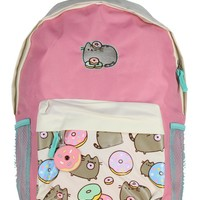Pusheen Cat Donuts Backpack with Donut Rubber Charm