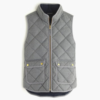 J.Crew Womens Excursion Quilted Vest In Flannel