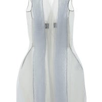 Breeze Mantle In Pearl Tulle by Rick Owens - Moda Operandi