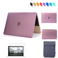 Matte Plastic Hard Case Cover For Apple Macbook Air/ Pro Retina 11.6 12 13.3 15.4 inch Laptop Protective Skin Clip On Shell