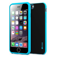 iPhone 6 Case, TPU Rubber and Plastic Protective Case for iPhone 6 (4.7 Inch) (Blue)