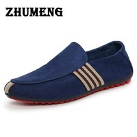 Man Shoes Walking Ventilation Casual Male Men Red Bottom Canvas Slip Driving Moccasin Loafers Flat Shoes