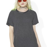 Come As You Are Distressed Tee