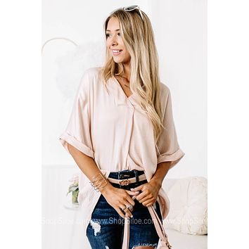 Hey There Delilah Blush Silky Top