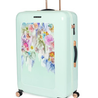 Large sugar sweet floral suitcase - Pale Green | Bags | Ted Baker ROW