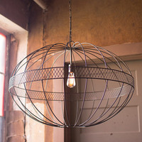 Metal Orb Pendant Lamp