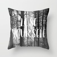 Forest - Lose Yourself Throw Pillow by ALLY COXON