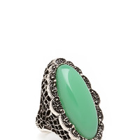 Old Hollywood Faux Stone Ring