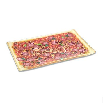 PIZZA Glass Tray