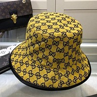 GG men's and women's double letter fisherman hat