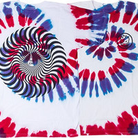 Spitfire Classic Swirl Tee Medium White/Tie Dye Purple & Red With Black