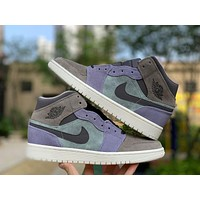 Air Jordan 1 Mid Suede Patch | 852542 203