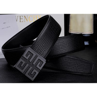 Givenchy Men Fashion Smooth Buckle Belt Leather Belt