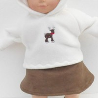 """Brown Skirt fits Cabbage Patch or Bitty Baby HANDMADE for 14,15,16"""" doll clothes"""