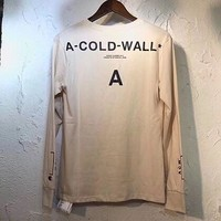 2018 new High quality fall winter hip hop kanye west ACW 18FW acw a cold  t shirt oversize Men women Short sleeve Promotion tees