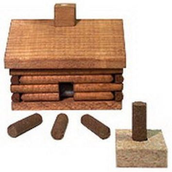 Paine's Log Cabin Incense Burner [Paine's Log Cabin Incense Burner]