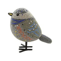 Animal PAINTED BLUE BIRD FIGURINE Polyresin Beak Hand Painted Er65111 A