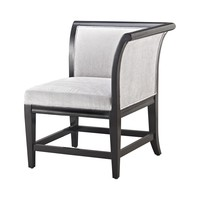 1139-023 Ostrava Chair In Black And Silver