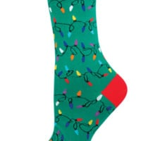 Socksmith Christmas Lights Green Socks
