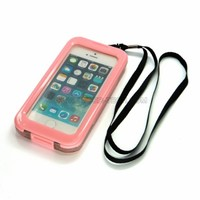 CyberTech 25ft Waterproof Shockproof Dirt Proof Sand Proof Silicon Touch Screen Case for iPhone 5 / 5C / 5S (Pink)