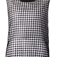 Costume National checkered tank top
