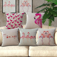 Foreign Trade Trend Flamingo Cotton Furnishing Cushion Cute Home Pillow Decorative Pillow Free Shipping