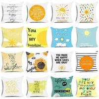 Quotes Sunflower - You are My Sunshine - Decorative Throw Couch Sofa Cute Pillows Cover cases