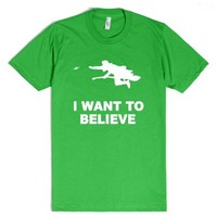 I WANT TO BELIEVE - Harry Potter-Unisex Grass T-Shirt