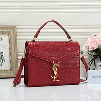 YSL Yves Saint Laurent Hot Sale Classic Crocodile Pattern Handbag Tote Bag Coin Purse Cosmetic Bag Fashion Ladies One-shoulder Messenger Bag
