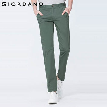Giordano Men Pants Casual Stretchy Trousers Solid Cotton Pantalones Mens Cargo Pants Inno Chinos Khakis Famous Brand
