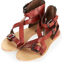 FANCY Cuff Cross Strap Sandals - New In This Week  - New In