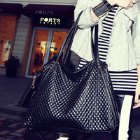 Korean Ruffle One Shoulder Bags Tote Bag [6582162311]