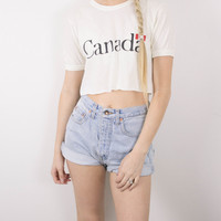 Vintage Canada Cropped T Shirt