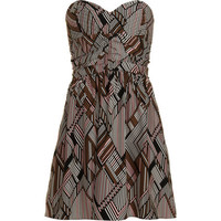 Parker Geometric Strapless Dress at Barneys.com
