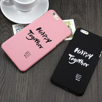 """""""Happy together """"mobile phone case for iPhone7 7S 7 7Splus iphone 5 5s SE 6 6s 6 plus 6s plus + Nice gift box 71501"""